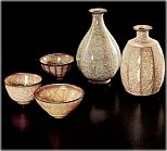 Sake Vessels by Minegishi Seiko (photo courtesy Honoho Geijutsu)